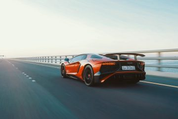 Lamborghini Driving On Highway